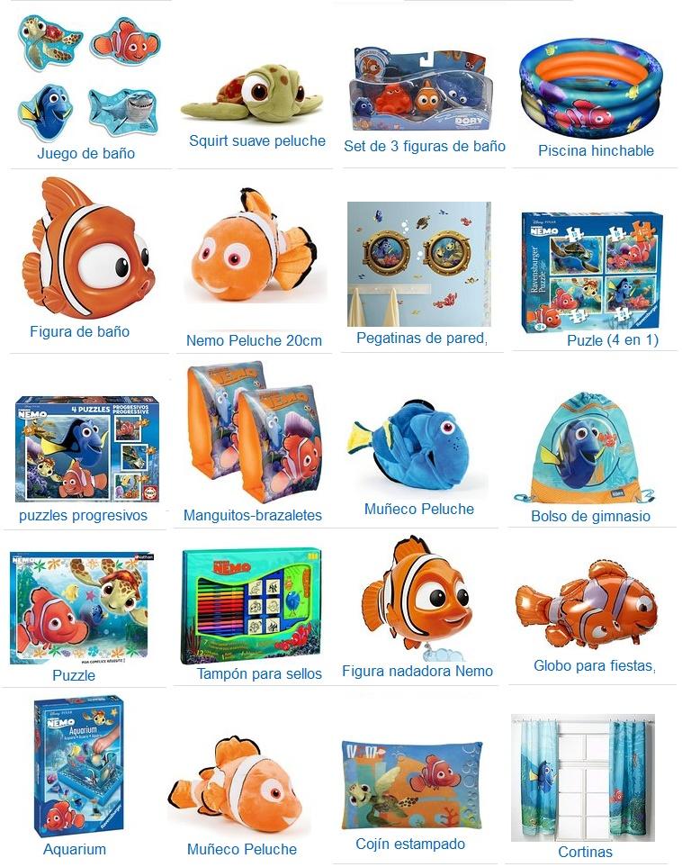 juguetes buscando a nemo