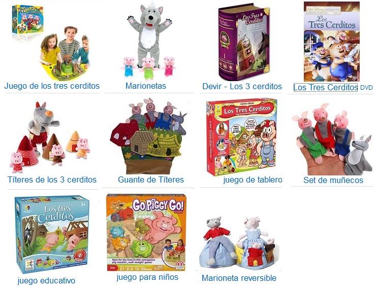 juguetes los tres cerditos