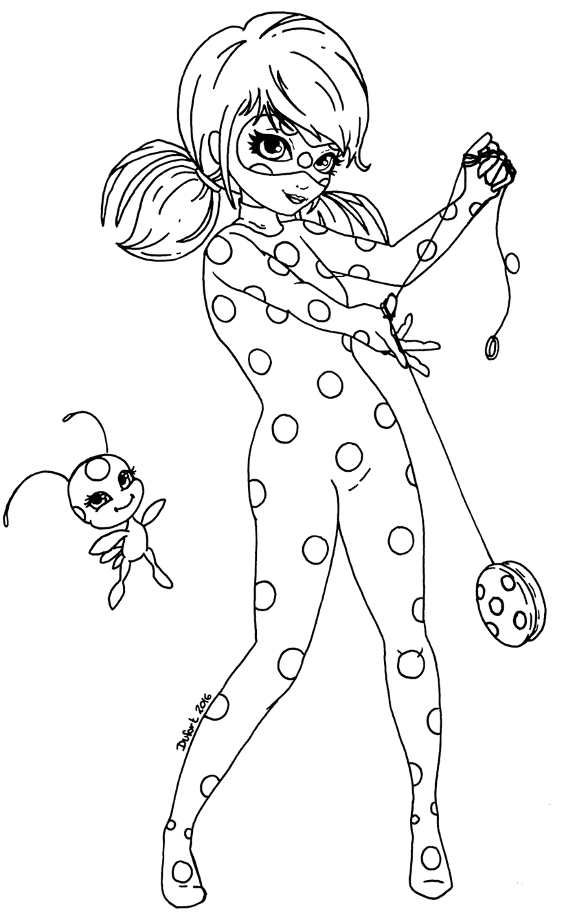 lady-bug-cat-noir para colorear