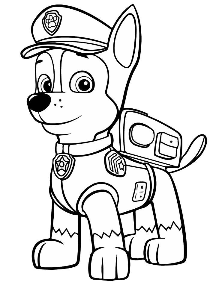 juegos dibujos para colorear de la patrulla canina