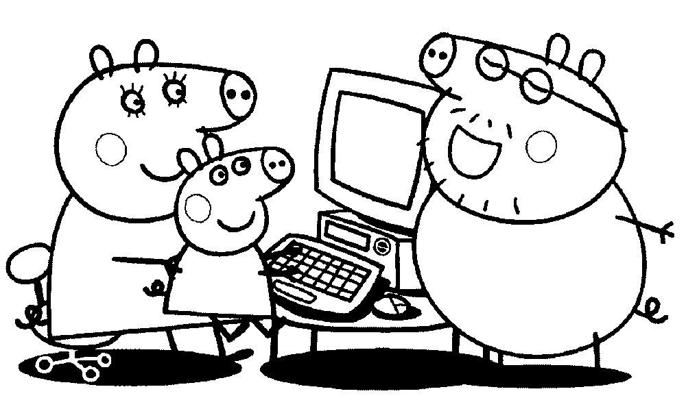 Dibujos Infantiles Para Colorear Peppa Pig